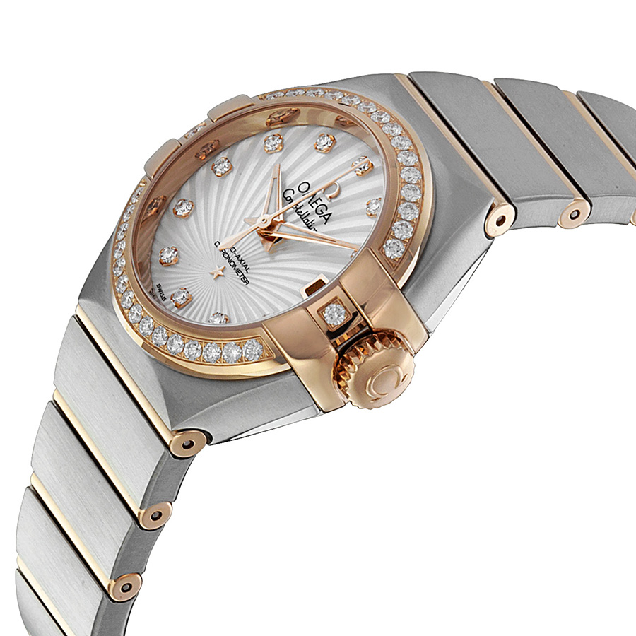 fake-omega-constellation-mother-of-pearl-diamond-dial-ladies-watch