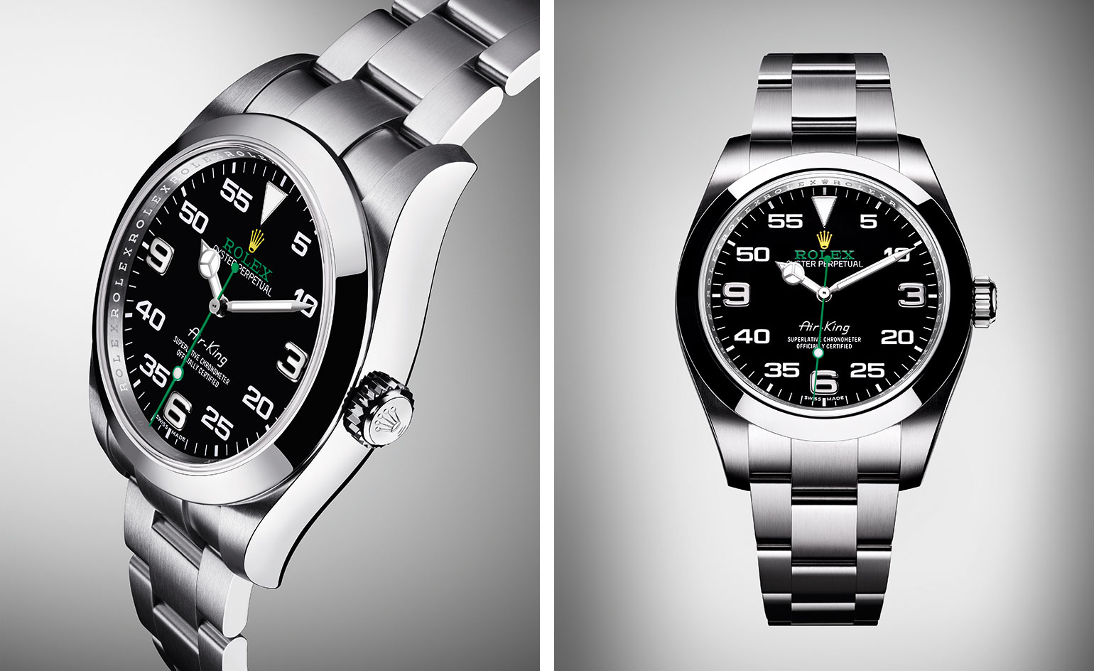 Black Dial UK Rolex Oyster Perpetual Air-King