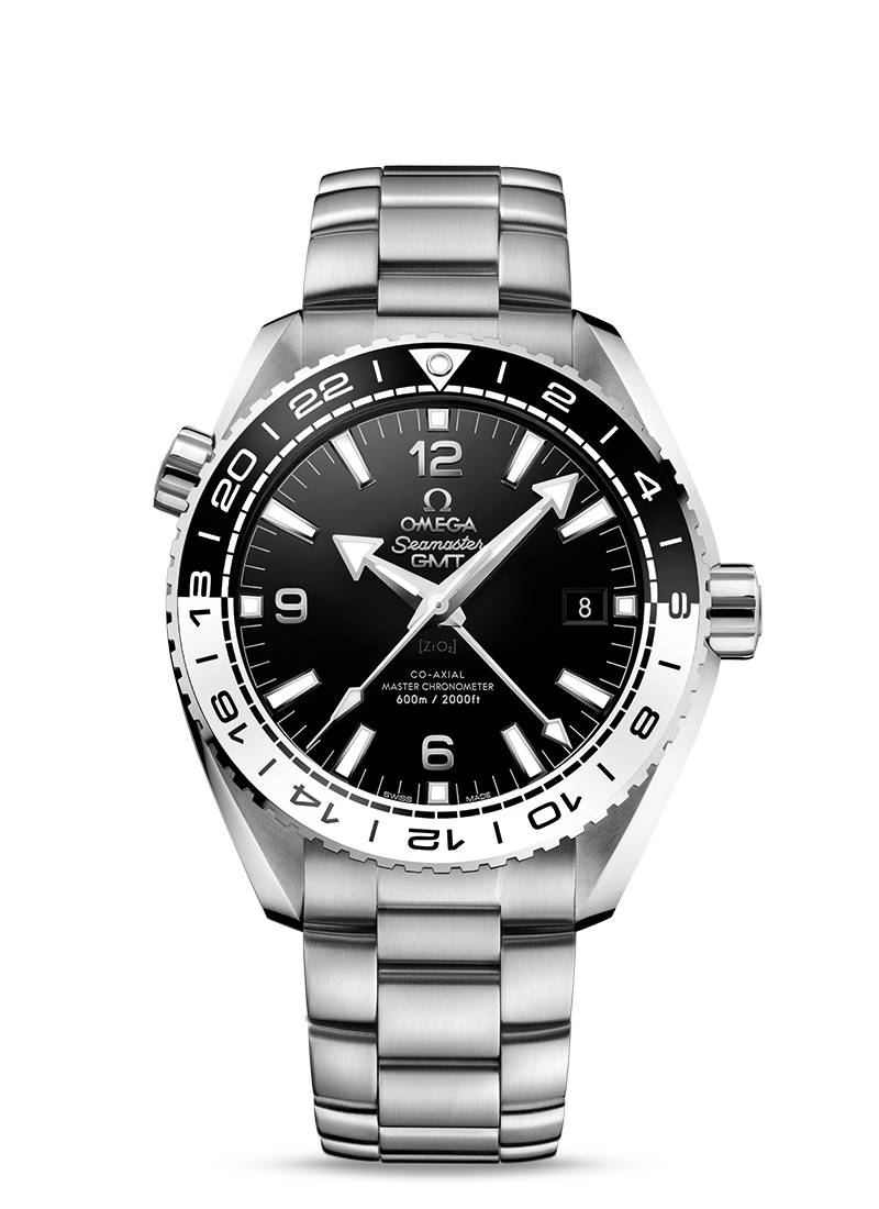 STAINLESS STEEL COPY PLANET OCEAN 600 M OMEGA CO-AXIAL MASTER CHRONOMETER GMT 43.5 MM