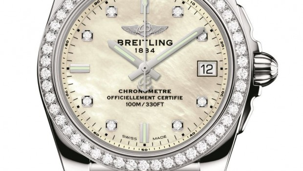 white mother-of-pearl dial Breitling-Galactic-36-SleekT replica