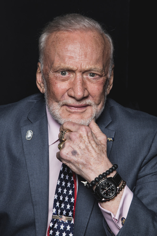 Buzz Aldrin And Black Leather strap Copy UK Omega Speedmaster Professional Moonphase Chronograph