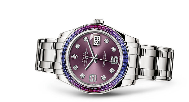 Charming Sapphires Rolex Oyster Perpetual Pearlmaster Replica Watches