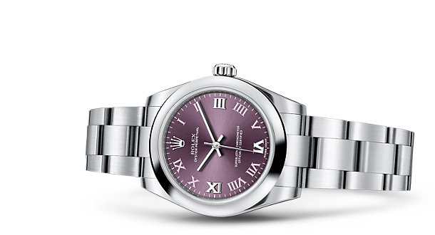 Red Grape Dial Rolex Oyster Perpetual Replica Watches