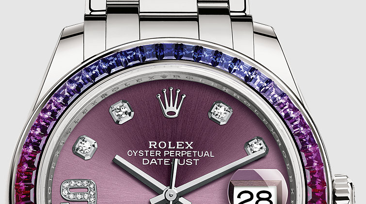 Shining Diamonds Rolex Oyster Perpetual Pearlmaster Replica Watches