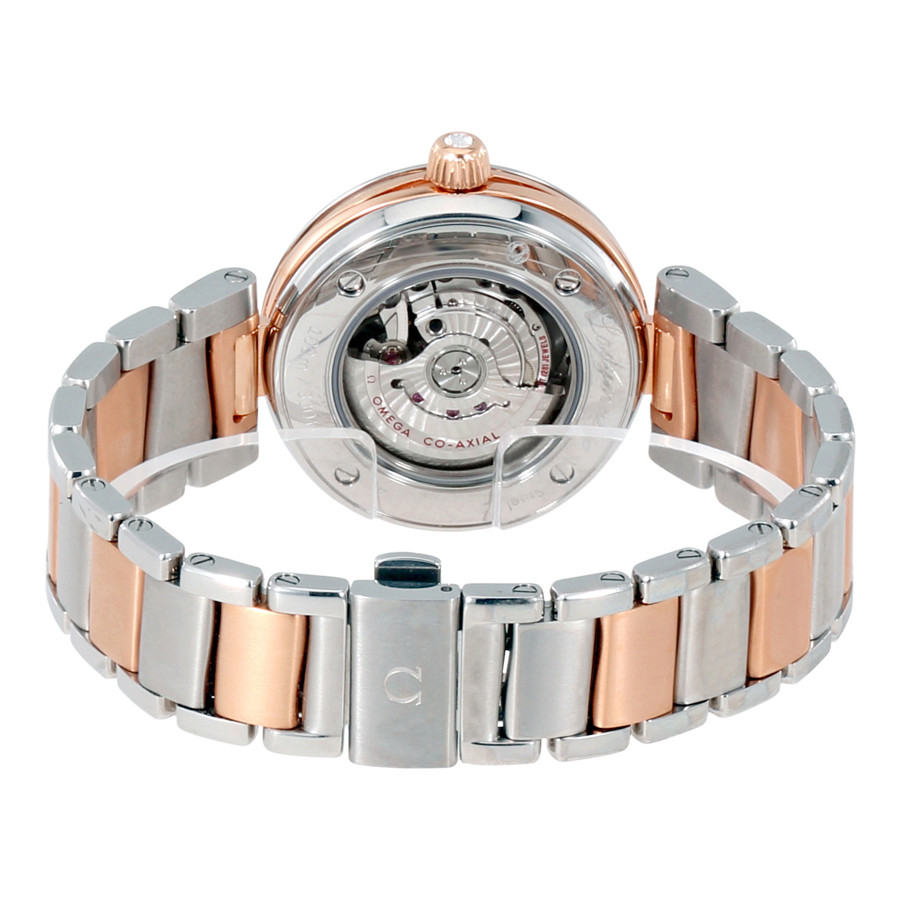 Omega De Ville Ladymatic Co-Axial Copy Watches With Transparent Case Back