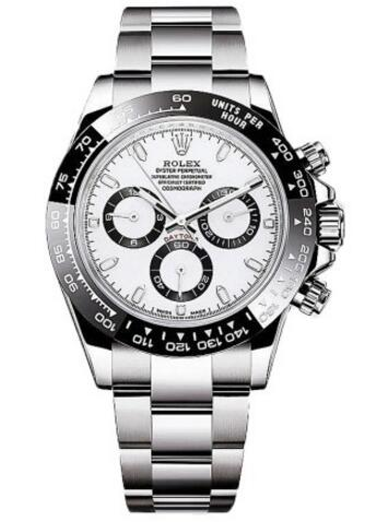 For this one, that adopted 904L stainless steel case matching the black ceramic bezel, presenting the most classical appearance. And at the same time, with the support of the reliable and precise performance, this white dial fake Rolex is worthy to buy.