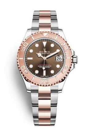 For the perfect combination of rose gold and chocolate, this replica Rolex watch looks more eye-catching.