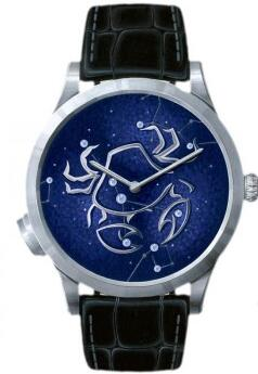 Seeing from the delicate dial, this replica Van Cleef & Arpels watch directly shows the charm of the nigh sky.
