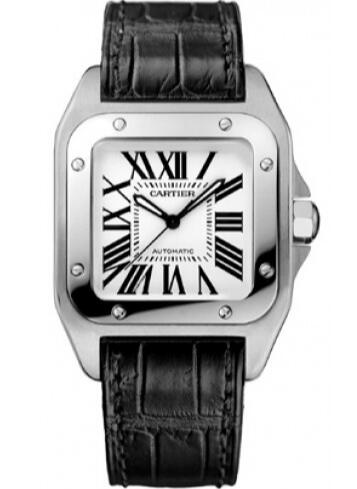 Wth the combination of black and white, this replica Cartier watch specially carries a classical appearance.