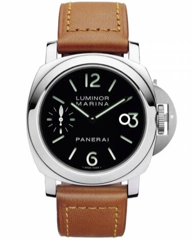 For the delicate brown leather strap, this replica Panerai watch also shows a vintage feeling.