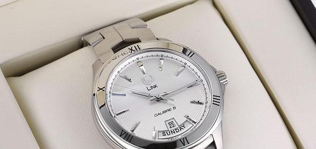 The 42 mm replica TAG Heuer Link WAT2013.BA0951 watches have silvery dials.