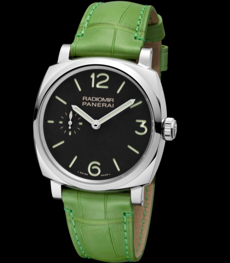 The durable replica Panerai Radiomir 1940 PAM00574 watches are made from stainless steel.