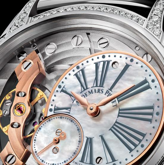 The special copy Audemars Piguet Millenary 77247BC.ZZ.1272BC.01 watches have off-centred dials.