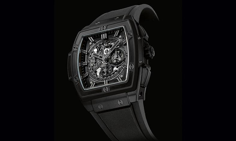 The sturdy copy Hublot Spirit Of Big Bang All Black watches are made from black ceramic.