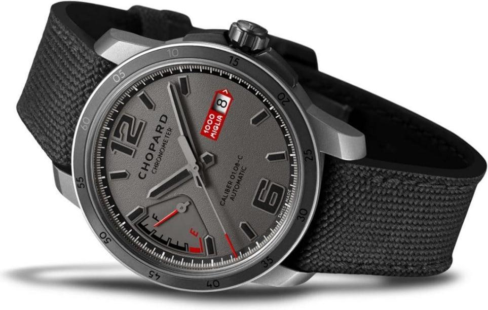 The grey straps replica Chopard Mille Miglia GTS Power Control watches have grey dials.