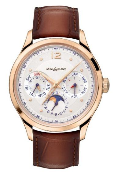 The 40 mm copy watches are made from 18k rose gold.