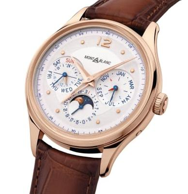 The 18k rose gold fake watches have silvery white dials.