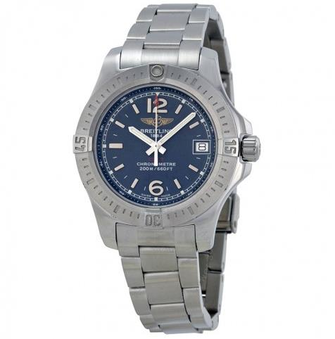 The 33 mm fake watches are made from stainless steel.