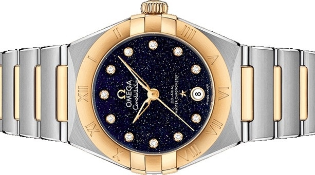 The female copy watches have dark blue dials.