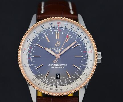 The 41 mm Breitling looks very elegant and eye-catching.