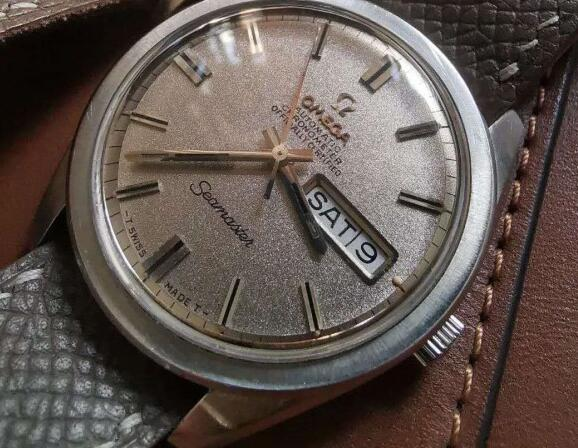 The antique Omega looks quite different from modern ones.