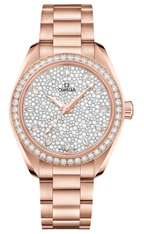 Swiss fake watches are shiny with Sedna gold and diamonds.